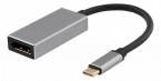 Deltaco USB-C - DP adapter, USB-C ha, DP ho, 3840x2160 60Hz