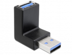 Delock Vinklad USB 3.0 Adapter, hane till hona, USB 3.0