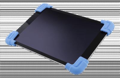 """Deltaco Skal i silikon för 9‑11.6"""" surfplattor, stativ, blå"""
