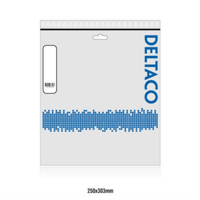 Deltaco S/FTP Cat7 patchkabel, LSZH (halogenfri), 1m, svart