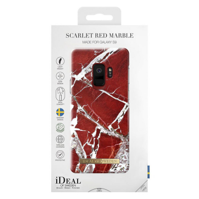 iDeal Fashion Case magnetskal Galaxy S9, Scarlet Red Marble