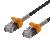 Deltaco GAMING Cat6A patchkabel, 1m, tunn kabel, svart