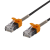 Deltaco GAMING Cat6A patchkabel, 3m, tunn kabel, svart