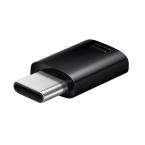 Samsung originaladapter MicroUSB till USB-C, EE-GN930BB, svart