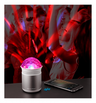 Technaxx Disco ljudstation, Bluetooth, LED, MicroSD, USB, silver