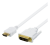 Deltaco HDMI till DVI-kabel, Full HD 1920x1080p 60Hz, 3m