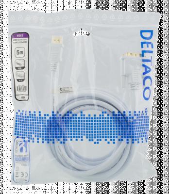 Deltaco HDMI till DVI‑kabel, Full HD, 1920x1080p, 60Hz, 5m