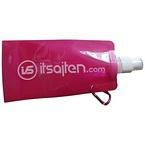 Vik- och frysbar vattenflaska, rosa