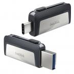 128GB SanDisk Ultra Dual 3.1 USB-minne med dubbla kontakter