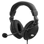 Deltaco slutet headset svart, 3,5mm