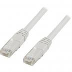 Deltaco U/UTP Cat6 nätverkskabel, 3m, vit