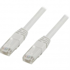 Deltaco U/UTP Cat6 nätverkskabel, 10m, vit