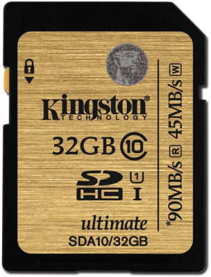 Kingston SDHC Ultimate 90MB/s, 32GB