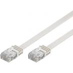 Deltaco flat nätverkskabel U/UTP CAT6 vit, 1m