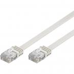 Deltaco flat nätverkskabel U/UTP CAT6 vit, 3m
