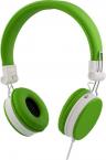 Streetz ihopvikbart headset med brusreducering, grön