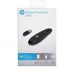 HP Wireless Presentationskontoll med laserpekare, svart