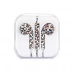 Earpods headset med fjärrkontroll, leopard