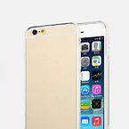 Totu TPU-skal anti-damm transparent guld, iPhone 6