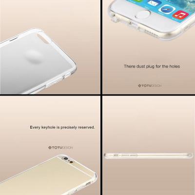 Totu TPU‑skal anti‑damm transparent guld, iPhone 6