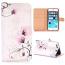 Vackert plånboksfodral med blommor, iPhone 6