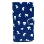 Plånboksfodral med ställ till Samsung Galaxy S5, elefanter
