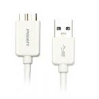 Pisen micro-USB 3.0 laddningskabel 0.8m, vit
