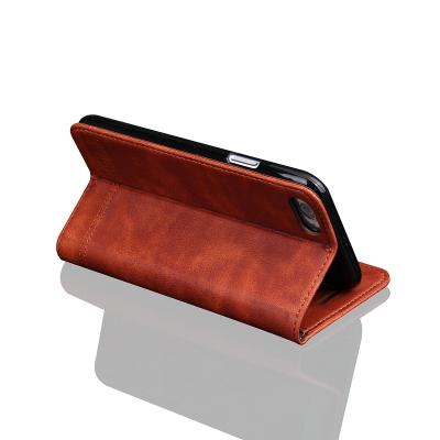 Läderfodral med ställ brun, iPhone 8/7