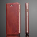 Plånboksfodral i läder brun, iPhone 7/8 Plus