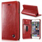 CaseMe Crazy Horse läderfodral med ställ till iPhone 6 Plus, röd