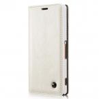 CaseMe läderfodral med ställ, Sony Xperia Z3, vit