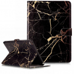 Läderfodral marmor, svart, iPad Air/Air 2 / 9.7 (2017-2018)
