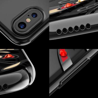 Kingxbar transparent skal med motiv, iPhone X/XS