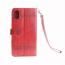Mönstrat läderfodral med vristband, iPhone X/XS, röd