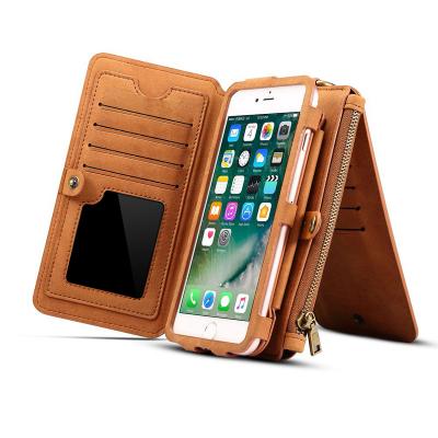 Dibase läderfodral med kortplatser brun, iPhone X/XS
