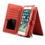 Dibase läderfodral med kortplatser röd, iPhone X/XS