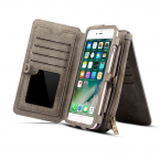 Dibase läderfodral med kortplatser grå, iPhone X/XS