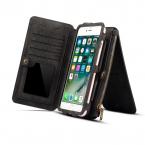 Dibase läderfodral med kortplatser svart, iPhone X/XS