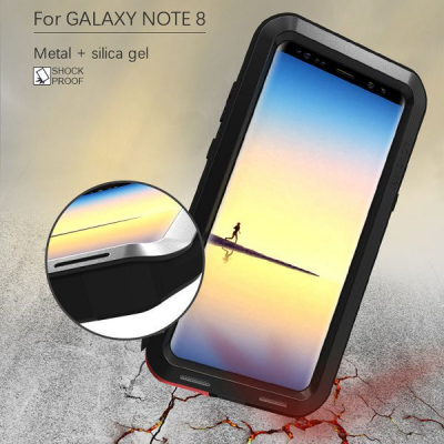 Love Mei Powerful svart, Samsung Galaxy Note 8