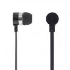 Deltaco in-ear hörlurar med mikrofon, svarsknapp, svart