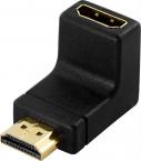 DeLOCK vinklad HDMI-adapter guldpläterad, svart
