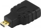 Deltaco MicroHDMI till HDMI-adapter, 10.2GB/s