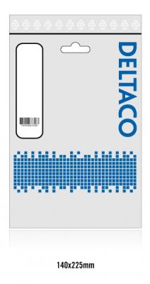 Deltaco USB 2.0 kabel, Typ C ‑ Typ Mini B ha, 1.5m, vit
