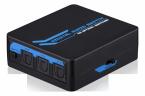 SPDIF/Toslink Digital optisk Audio 1x4 Splitter, fjärrkontroll