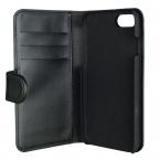 Gear plånboksfodral med magnetskal till iPhone 8/7/6, svart