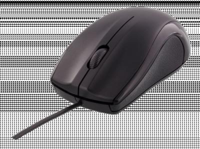 Deltaco trådad optisk mus, USB 2.0, 1.2m kabel, svart