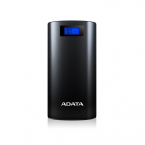 ADATA Powerbank 20.000mAh, med LCD-skärm/ficklampa, 2xUSB