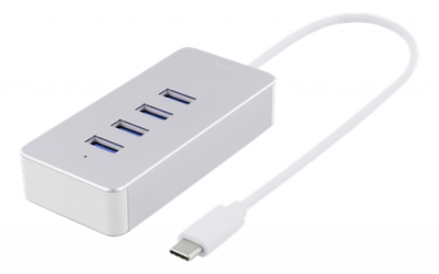Deltaco USB‑C hubb, 4xUSB 3.1, 5Gbps