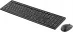 Deltaco trådlöst tangentbord och mus, USB, 10m, nordisk, svart
