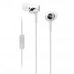 Sony MDR-EX250AP In-ear hörlurar med mic, vit
